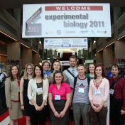 Biology students at conference